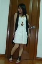 dress - vest - F&H necklace - Bazaar shoes