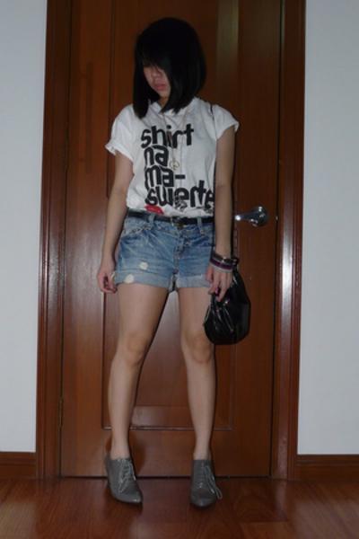 team manila shirt - Greenhills shorts - Fiorucci shoes - Zara purse