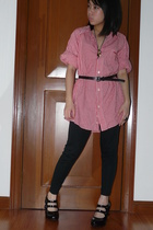 top - robinsons dept store - Fiorucci shoes - childhood days belt - Forever21 ac