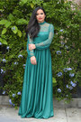 Forest-green-vintage-dress