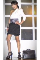 white Glitterati blouse - black Glitterati skirt - black online shoes - black Lo