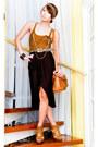 Zara-bag-strappy-heels-topshop-sandals-chain-tank-zara-top-glitterati-skir
