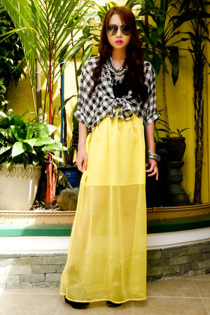 Glitterati skirt - sling Zara bag - Tango blouse - tank Mango top