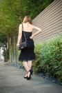 Black-topshop-blouse-black-zara-heels