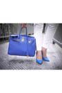 Blue-motorcycle-bershka-jacket-blue-birkin-hermes-bag