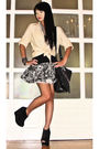 Beige-glitterati-shirt-black-topshop-top-gray-topshop-skirt-black-topshop-