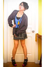 Black-topman-cardigan-black-h-m-skirt-blue-zara-top-black-marks-and-spence