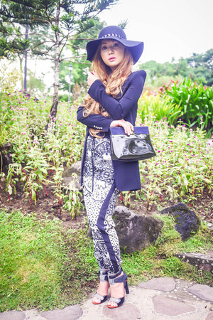 black Alexander Wang shoes - black Zara blazer - charcoal gray Topshop pants