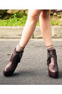 Dark-khaki-mango-blouse-tawny-zara-shirt-dark-brown-soule-phenomenon-boots-