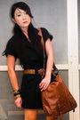 Black-details-suit-brown-chanel-belt-brown-zara-shoes-brown-nine-west-bag-