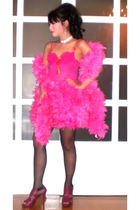 Glitterati bra - Glitterati skirt - custom made scarf - necklace - Lucky Doll st