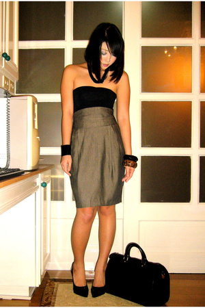 Mango Basics top - Zara Woman skirt - Zara Woman shoes - Boracay Beach bracelet