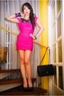 Hot-pink-glitterati-dress-black-michael-antonio-heels-black-chanel-purse-m