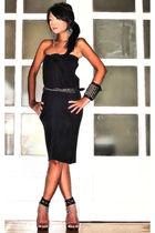 black Vintage from Mom skirt - black online shoes - black Cuteture bracelet