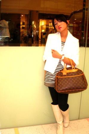 Zara coat - Topshop shirt - HK skirt - Zara tights