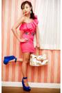 Bubble-gum-glitterati-dress-white-louis-vuitton-bag-orange-vintage-belt