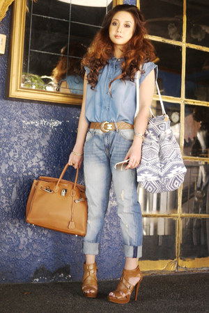 Mango jeans - Hermes bag - Tom Ford sunglasses - Chanel belt