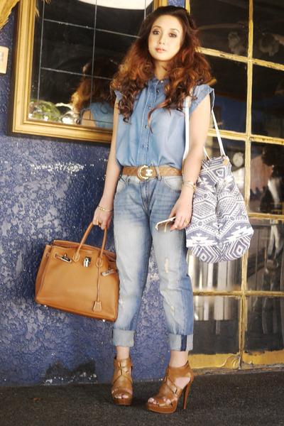 Mango jeans - Hermes bag - Tom Ford sunglasses - Chanel belt