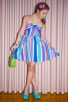 violet apartment 8 dress - green Tommy Hilfiger bag