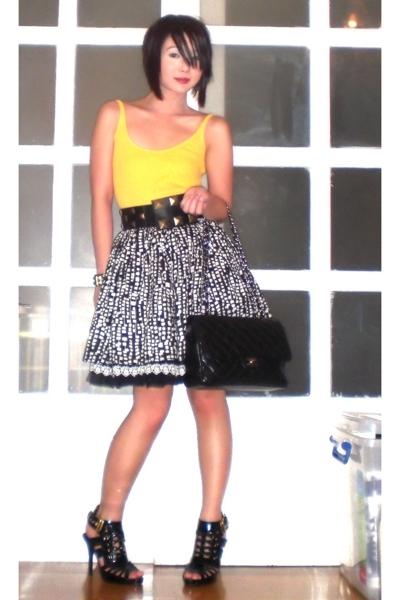 black Cintura belt - black Zoo Shoes shoes - black 255 jumbo Chanel purse
