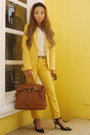 Yellow-zara-suit