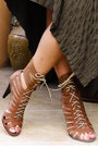 Green-cultus-chi-chi-earrings-camel-leather-strappy-tieup-boots