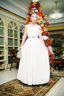 White-glitterati-dress-silver-heels