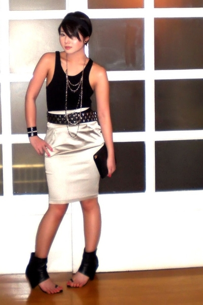 silver Culte Femme skirt - black Monica Fig shoes