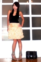 Mango top - Glitterati skirt - AmiClubWear shoes - Chanel purse