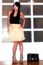 Mango top - Glitterati skirt - AmiClubWear shoes - Chanel purse