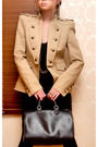 Beige-zara-blazer-black-leggings-black-topshop-boots-black-aldo-glasses-