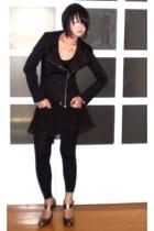 black Tyler jacket - silver maryjane heels Aldo shoes