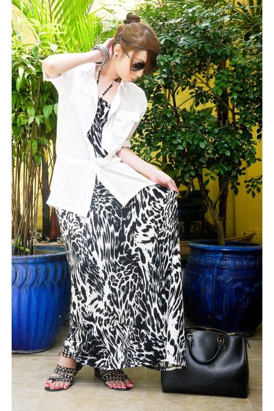 from Rockwell bazaar sandals - Moonshine dress - Louis Vuitton bag