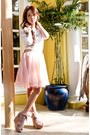 Light-pink-vintage-skirt-ivory-forever-21-top-light-pink-topshop-wedges-pe