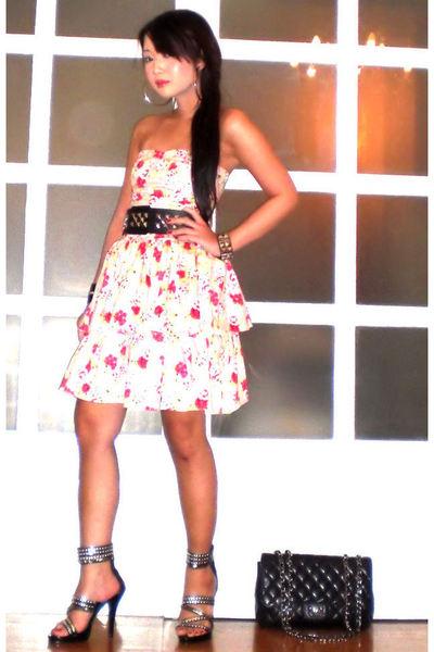 Glitterati dress - Glitterati belt - Chanel purse - amiclubwearcom shoes - Trunk