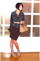 Ezra Fitch jacket - Zara dress - vintage belt - Nina Ricci purse - People are Pe