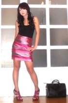 Glitterati skirt - Topshop top - Aldo earrings - the Librarians shoes - Louis Vu