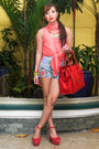 Coral-gifts-ahoy-heels-red-celine-bag-sky-blue-redstudio-shorts