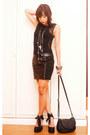 Chain-leather-zara-purse-leather-zara-skirt-mango-top-tieup-janilyn-wedges