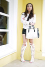 White-oath-sweater-white-shiq-bag-black-kirin-kirin-shorts