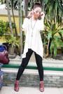 Black-topshop-leggings-maroon-chloe-bag-maroon-christian-siriano-heels