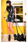 Black-random-from-my-closet-t-shirt-blue-forever21-shorts-black-online-bag-