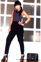Topman top - Glitterati pants - Vida Jewelries necklace - Chanel purse - Zara sh