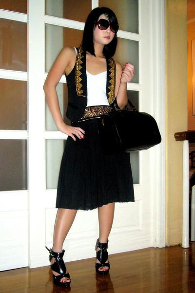 Zara vest - Mango top - Zara skirt - Anthem shoes
