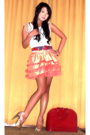 Glitterati top - Glitterati skirt - belt - AmiClubWear shoes - Louis Vuitton pur
