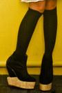 Black-soule-phenomenon-boots-ivory-kookies-vintage-store-dress-white-random-