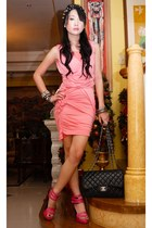 black 255 Chanel bag - hot pink strappy Sinta shoes - bubble gum Tyler dress