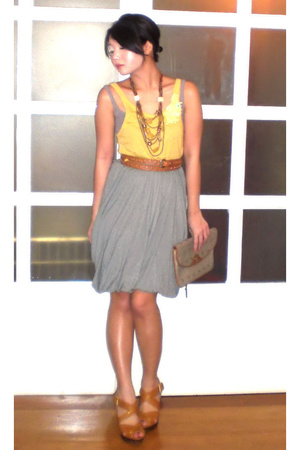 Hong Kong top - Topshop top - Moms Collection belt - Mango skirt - christian dio