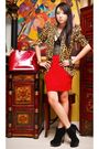 Brown-undernourished-manila-blazer-red-moonshine-skirt-black-glitterati-top-