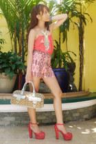 coral Gifts Ahoy heels - sky blue canvas tote Gucci bag